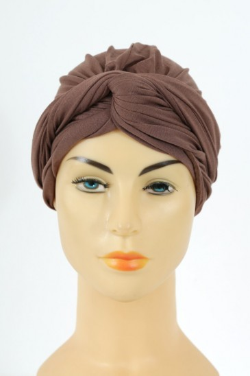 Turban alexia - Marron pas cher & discount