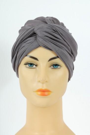 Turban alexia - gris fonce pas cher & discount