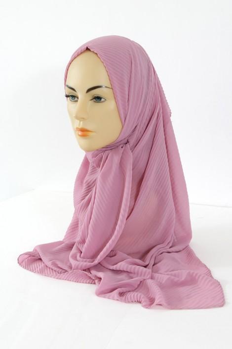 Hijab Mousseline Plisse - Lilas