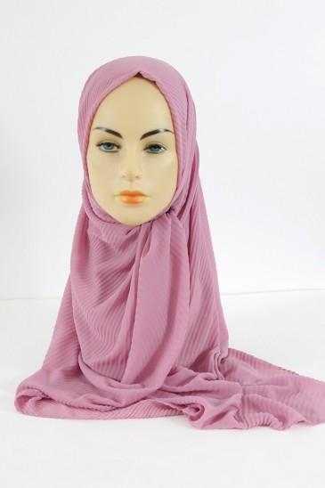 Hijab Mousseline Plisse - Lilas pas cher & discount