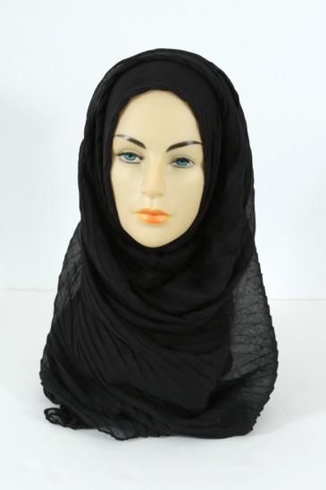 Hijab Tourbillon - noir pas cher & discount
