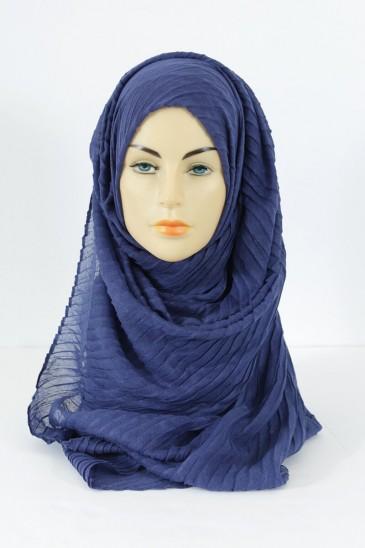 Hijab Tourbillon - bleu indigo pas cher & discount