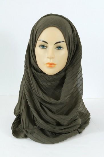 Hijab Tourbillon - kaki pas cher & discount