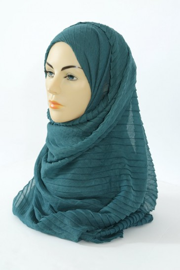 Hijab Tourbillon - Vert emeraude pas cher & discount