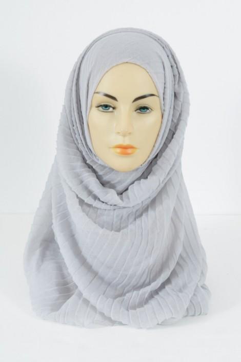 Hijab Tourbillon - gris perle