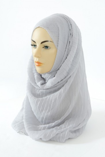 Hijab Tourbillon - gris perle pas cher & discount