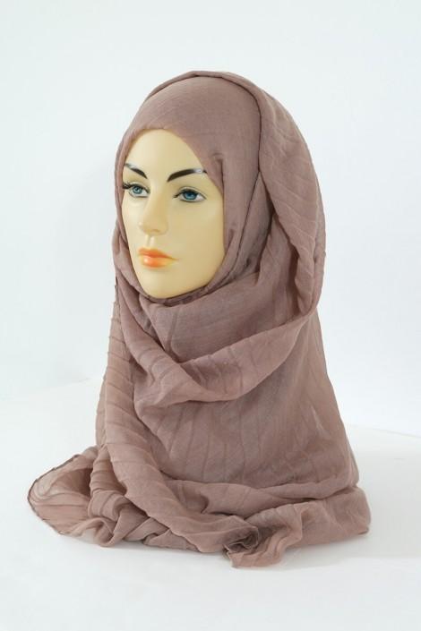 Hijab Tourbillon - taupe foncé
