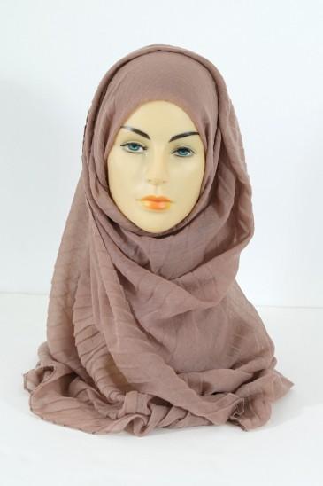 Hijab Tourbillon - taupe foncé pas cher & discount
