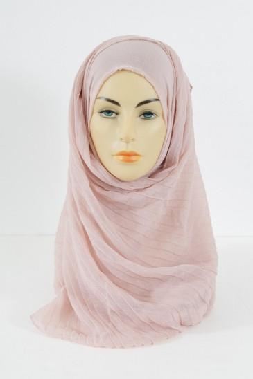 Hijab Tourbillon - Rose pale pas cher & discount