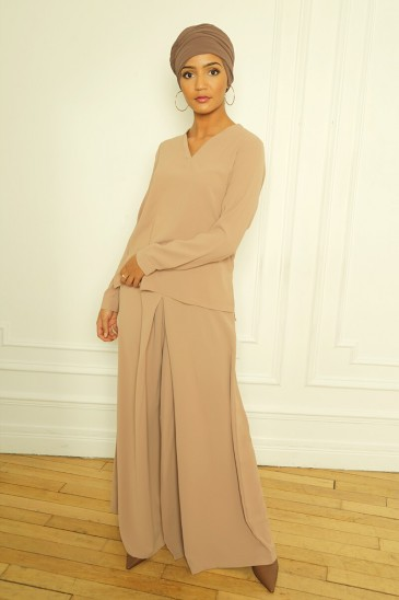 Pantalon Ophelia Camel pas cher & discount