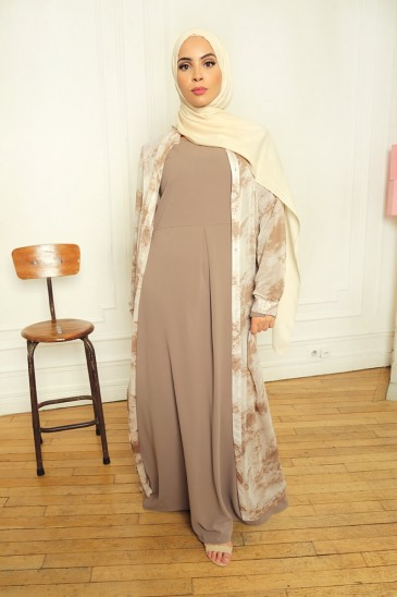 Robe Aysé Taupe pas cher & discount