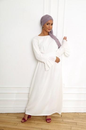 Robe Sahel Blanc pas cher & discount