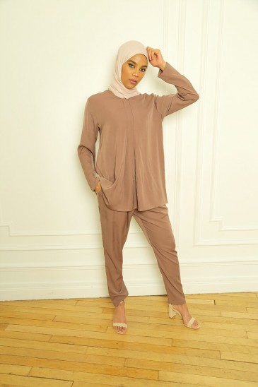 Ensemble Basic Louna Marron pas cher & discount