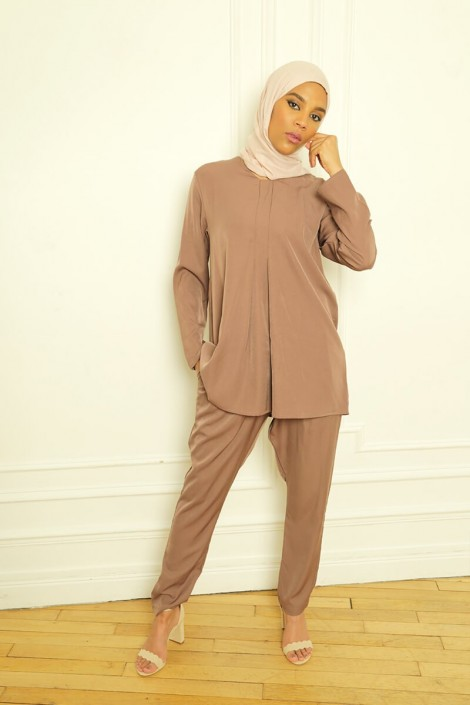 Ensemble Basic Louna Marron