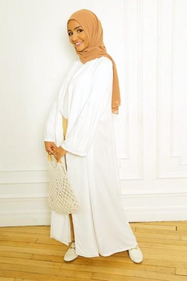ABAYA Jade Blanc pas cher & discount