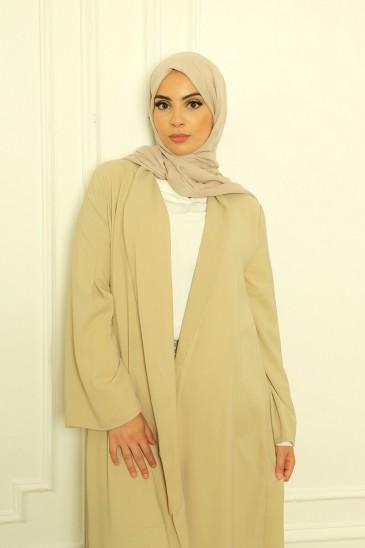 Abaya Jade Beige Mastic pas cher & discount