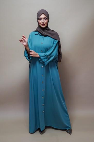 Robe Peonia Bleue pas cher & discount