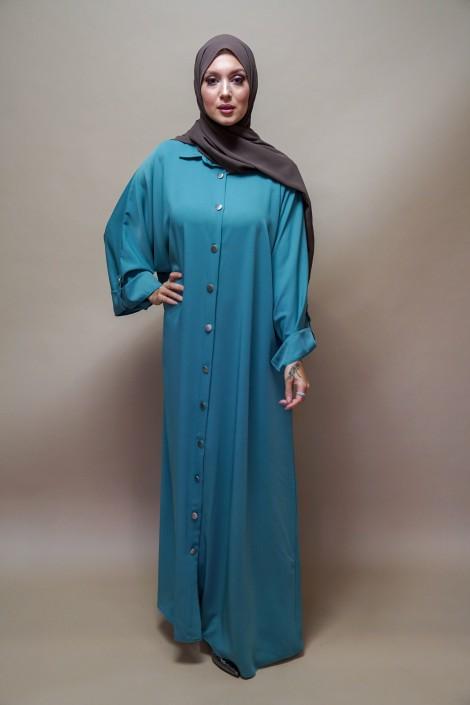 Robe Peonia Bleue