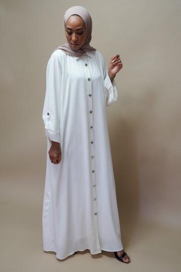 Robe Peonia Blanc pas cher & discount