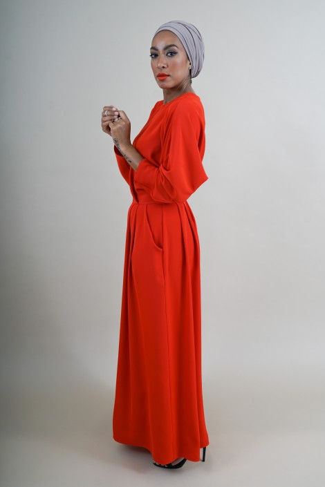 Robe Malone Rouge Mystérieux