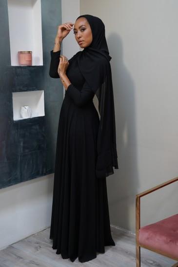 Robe Meena Noire pas cher & discount