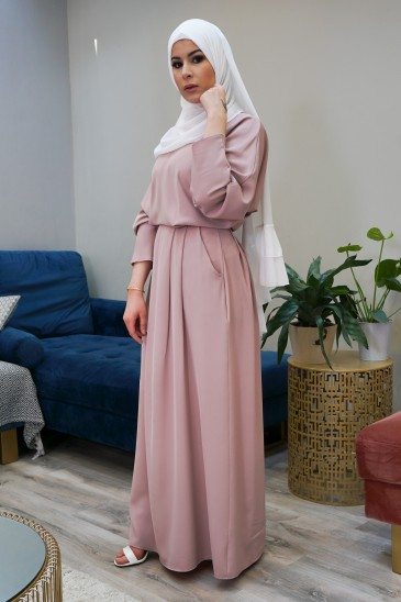 Robe Malone Nude pas cher & discount
