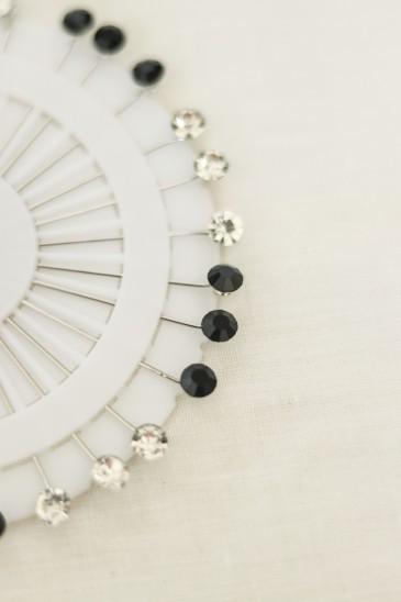 Epingle Diamant- Noir et blanc pas cher & discount