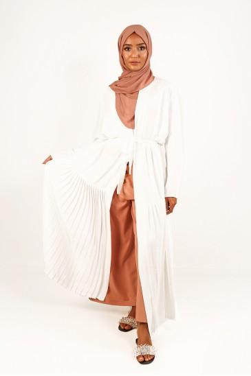 Abaya Laya Ecru pas cher & discount