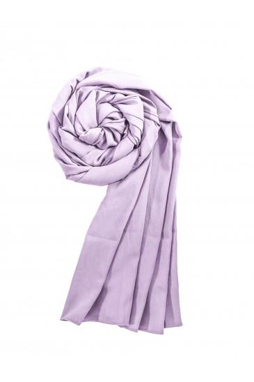 Hijab mousseline opaque XXL Violet glycine pas cher & discount