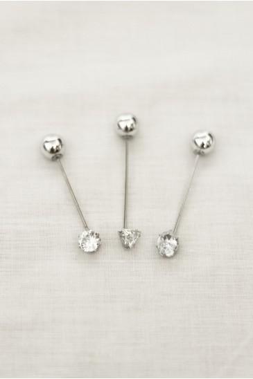 Epingle Diamant Argent pas cher & discount