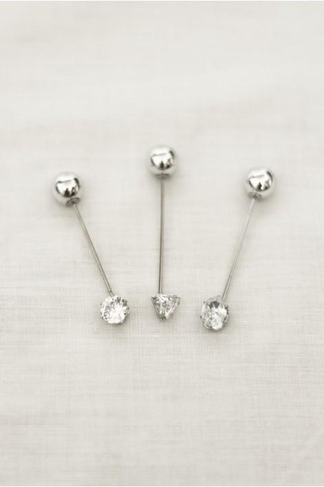 Epingle Diamant Argent