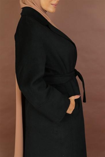 Manteau Sakura Noir pas cher & discount