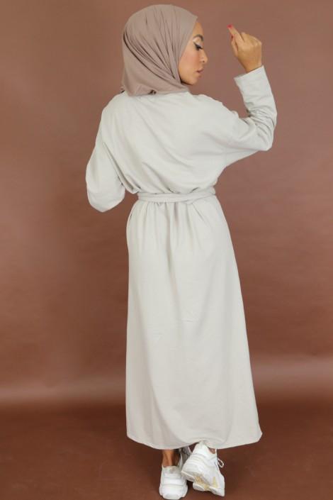 Robe à noeud Nyna Beige