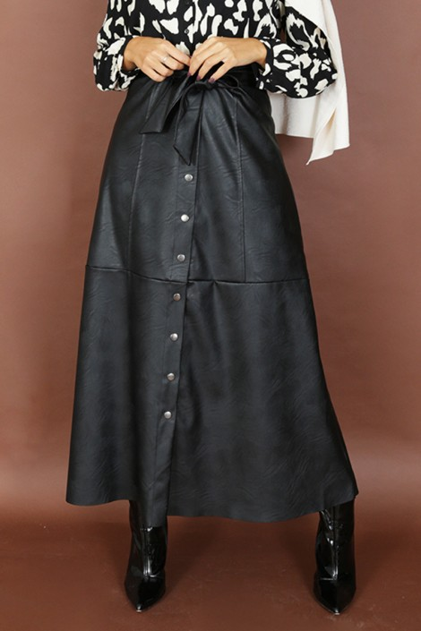 Jupe Similicuir Giulia Noir