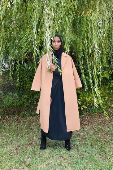 Manteau Sakura Camel pas cher & discount