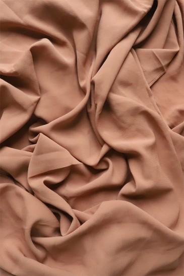 Hijab mousseline opaque XXL Acajou pas cher & discount