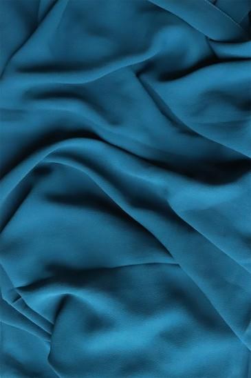 Hijab mousseline opaque XXL Bleu canard pas cher & discount