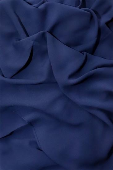 Hijab mousseline opaque XXL Bleu marine pas cher & discount