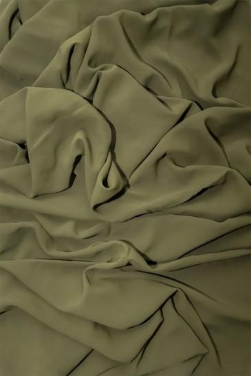 Hijab mousseline opaque XXL Kaki pas cher & discount