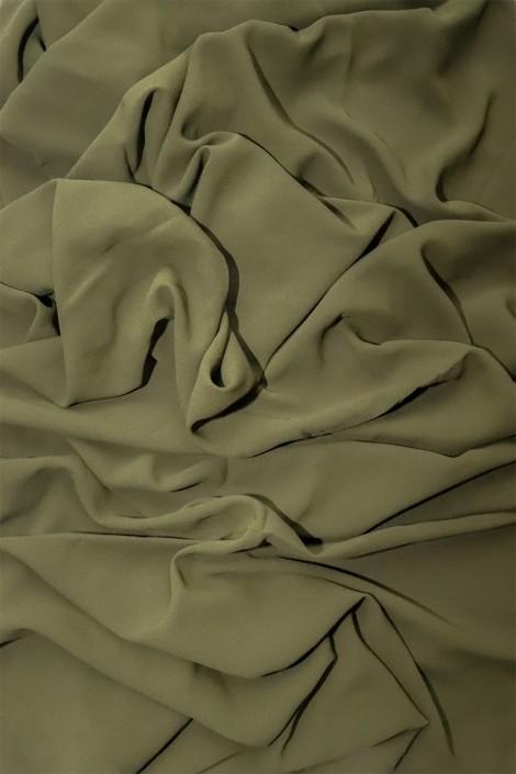 Hijab mousseline opaque XXL Kaki
