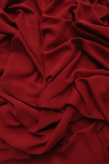 hijab mousseline opaque XXL Rouge foncé pas cher & discount