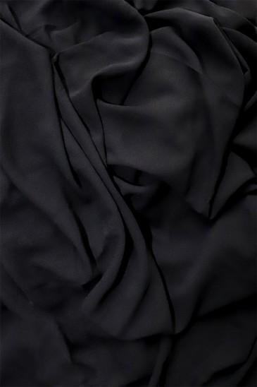 Hijab mousseline opaque XXL Noir ébène pas cher & discount