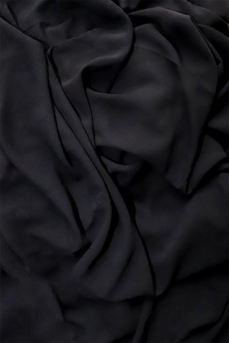 Hijab mousseline opaque XXL Noir ébène
