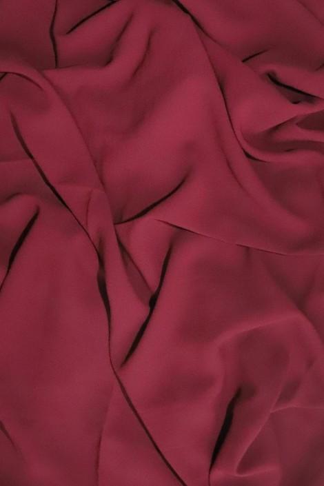 Hijab mousseline opaque XXL Prune