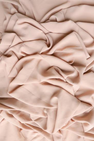 Hijab mousseline opaque XXL Rose poudré pas cher & discount