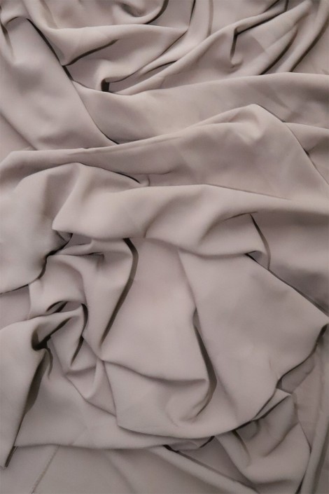 Hijab mousseline opaque XXL Taupe clair