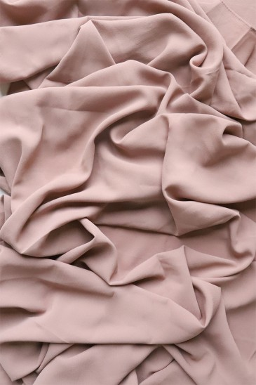 Hijab mousseline opaque XXL Taupe rosé pas cher & discount