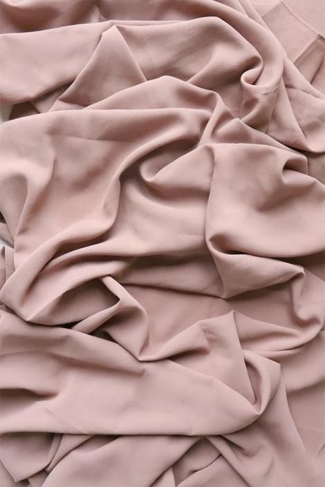 Hijab mousseline opaque XXL Taupe rosé