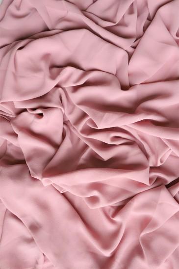 Hijab mousseline opaque XXL Vieux rose pas cher & discount