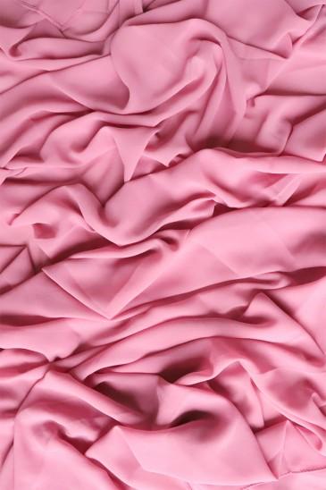 Hijab mousseline opaque XXL Rose balais pas cher & discount